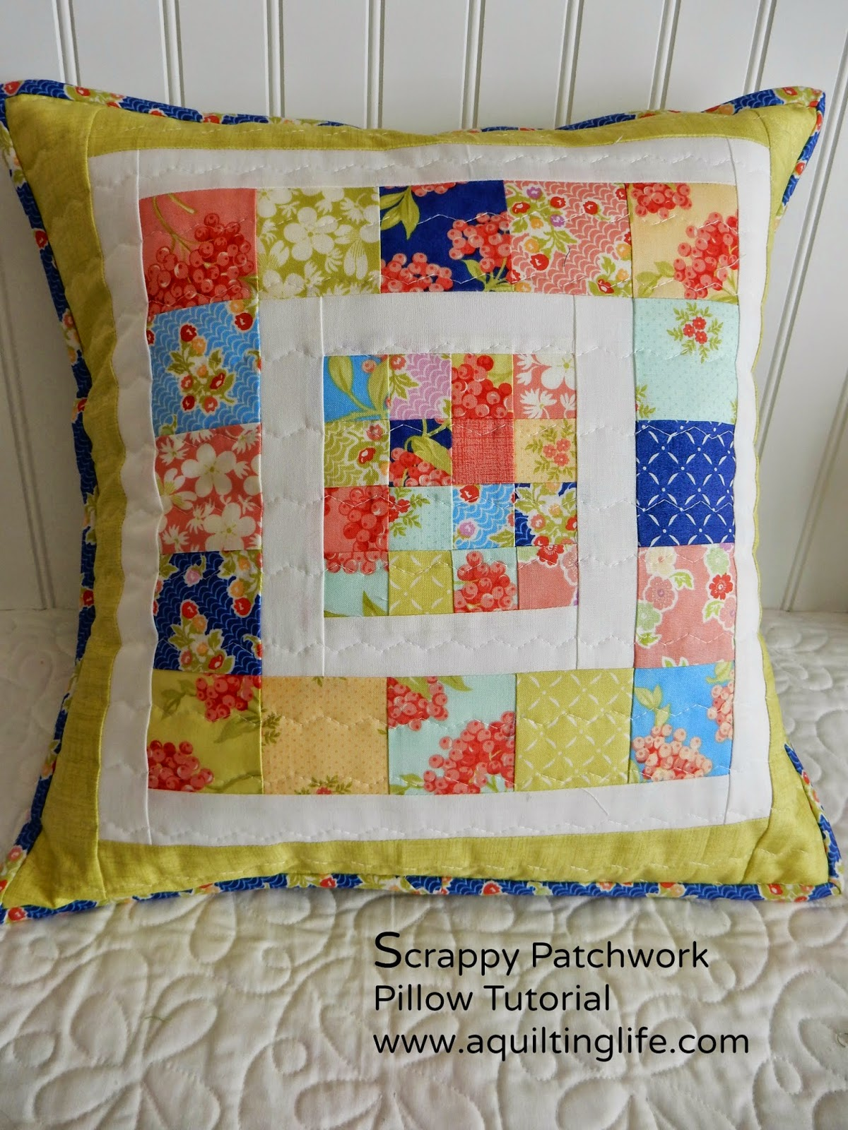 Scrappy Patchwork Pillow Tutorial A Quilting Life