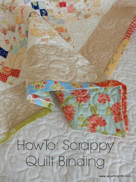 How To Scrappy Quilt Binding Tutorial A Quilting Life