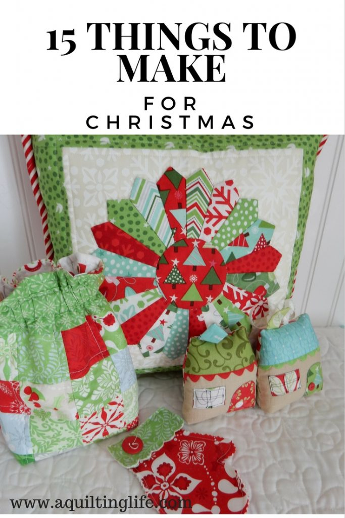 15 Things to Make for Christmas featured by Top US Quilting Blog, A Quilting Life: image of Christmas Decor Items