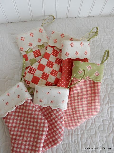 Quilted Christmas Stockings A Quilting Life