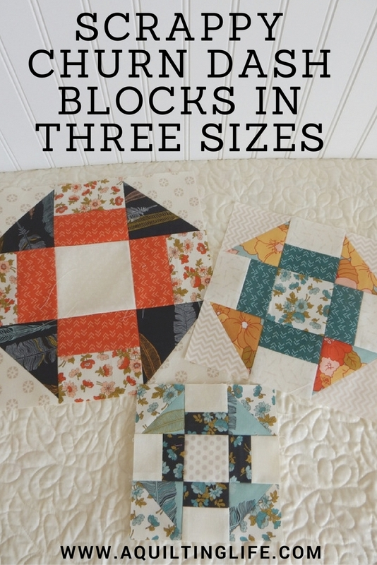 Scrappy Churn Dash Blocks Free Pattern A Quilting Life