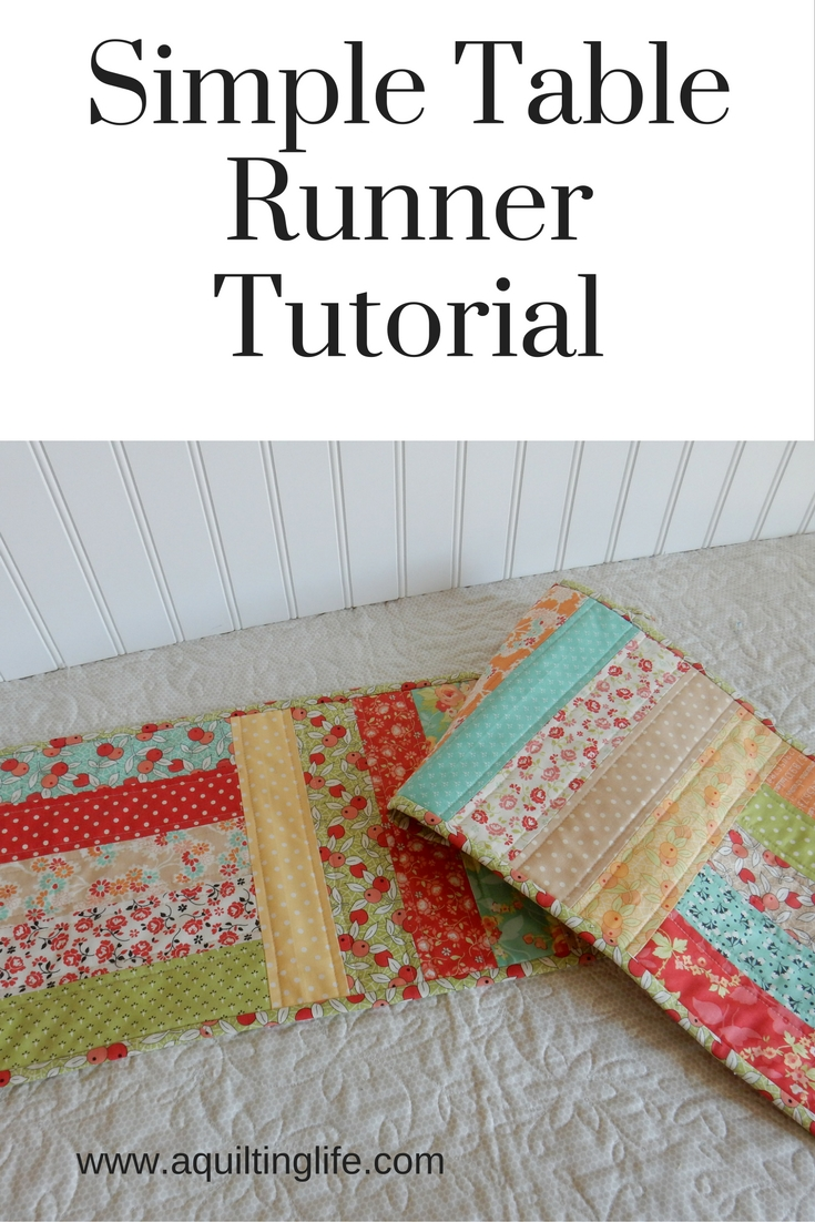 Simple Table Runner Tutorial A Quilting Life