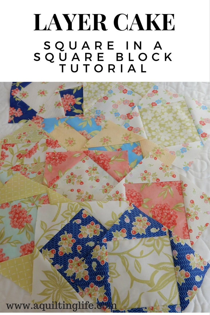 Square In A Square Block Tutorial A Quilting Life