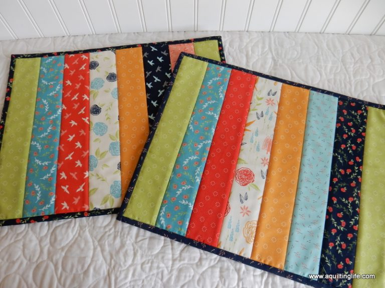Easy Quilt-As-You-Go Place Mats