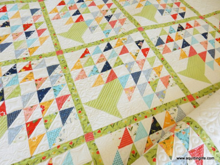 Family Tree Quilt by A Quilting Life in Clover Hollow fabric