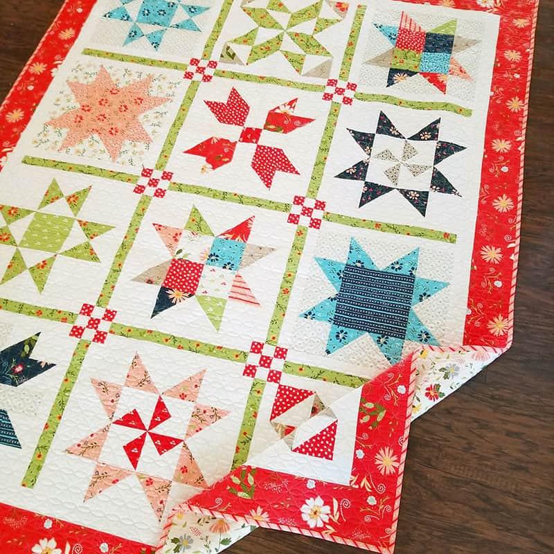 Garden Stars Sampler Quilt Pattern