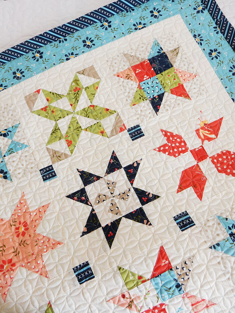 Garden Stars Sampler Wall Hanging & Fall Mini Quilts | A Quilting Life