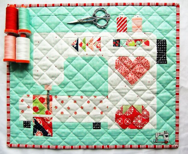 Stitched with Love Mini Quilt