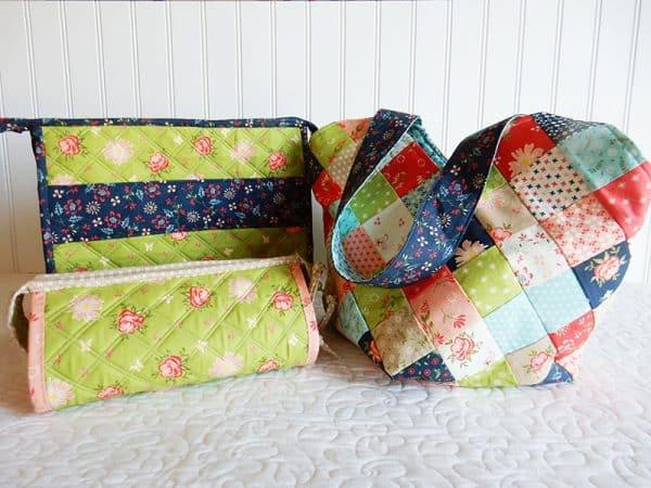Quilted Bags in Harper's Garden Fabrics