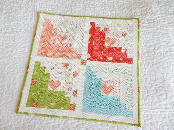 Log Cabin Quilt Block featured by top US quilting blog A Quilting Life