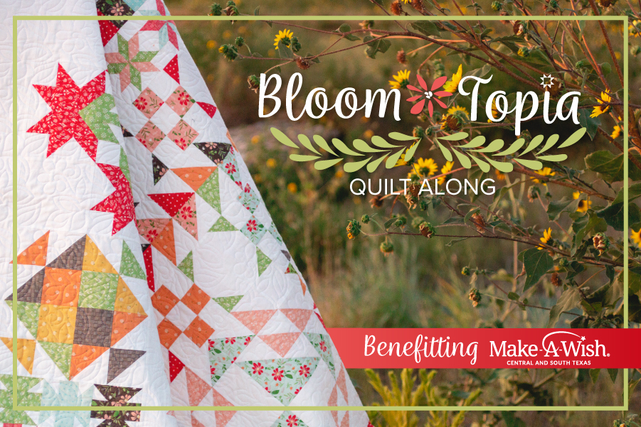 Bloom-Topia Charity Quilt Along | A Quilting Life