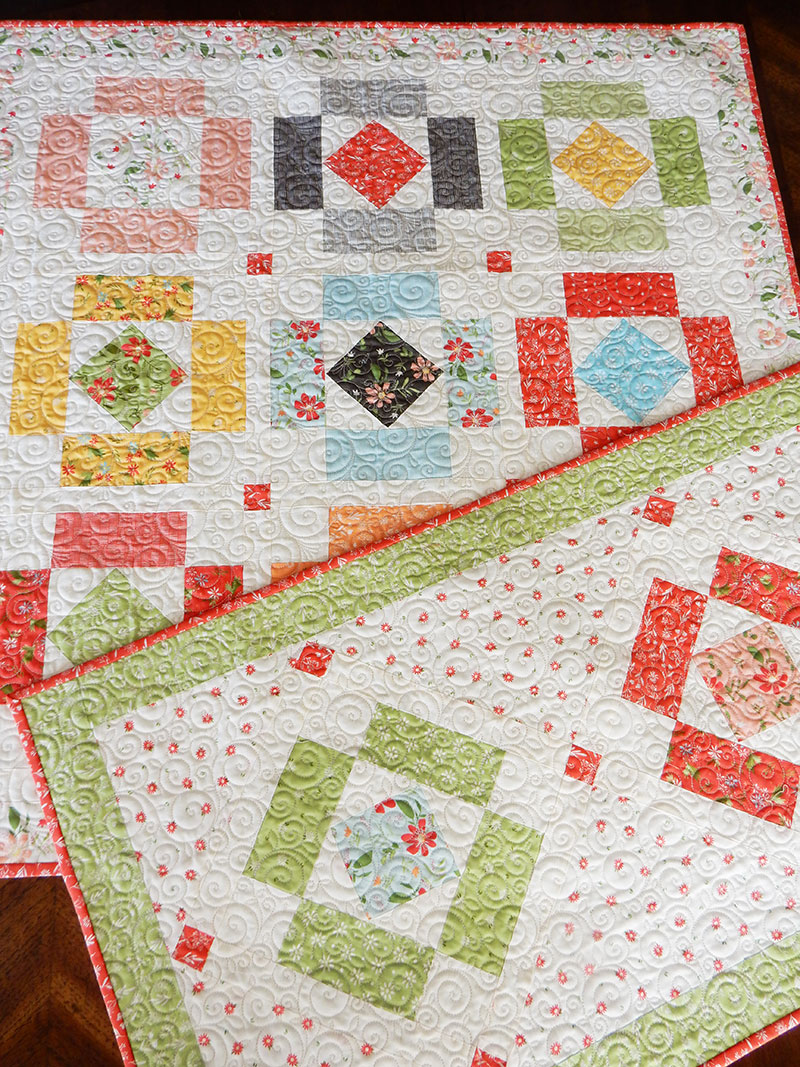 Charm Pack Table Runner & Topper Pattern | Simply Charming | A Quilting Life