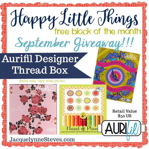 Happy Little Things Block 2 | Giveaway