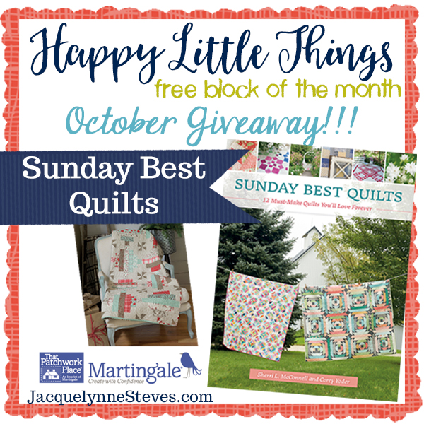 Happy Little Things Block 3 | Free Block of the Month