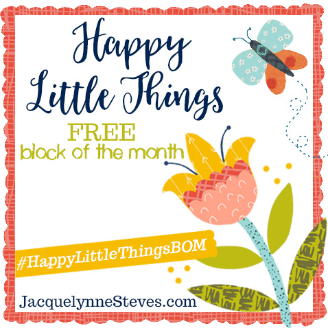 Happy Little Things Block 4   Free Block of the Month