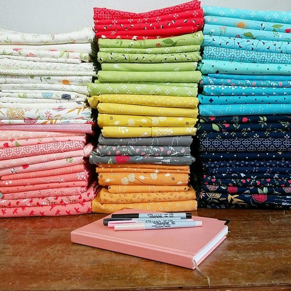 building and organizing a fabric stash, tips featured by top US quilting blog, A Quilting Life.