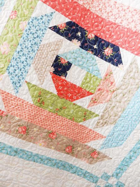 Dayflower Quilt by Corey Yoder for Sunday Best Quilts, featured by top US quilting blog, A Quilting Life.