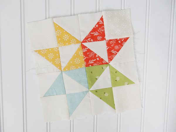 Moda Block Heads 3 featured by Top US Quilting Blog, A Quilting Life: image of block 2