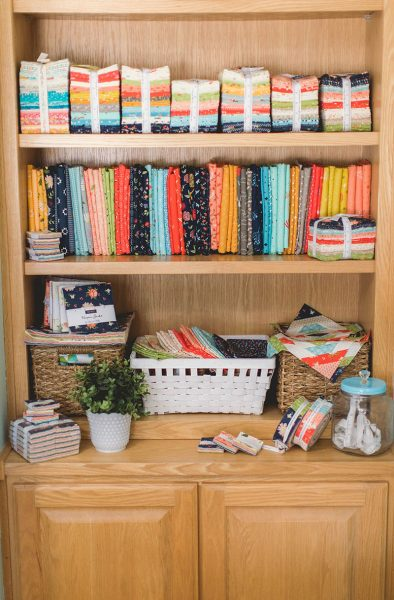 A Quilting Life at Home featured by Top US Quilting Blog, A Quilting Life: image of fabric storage cabinet
