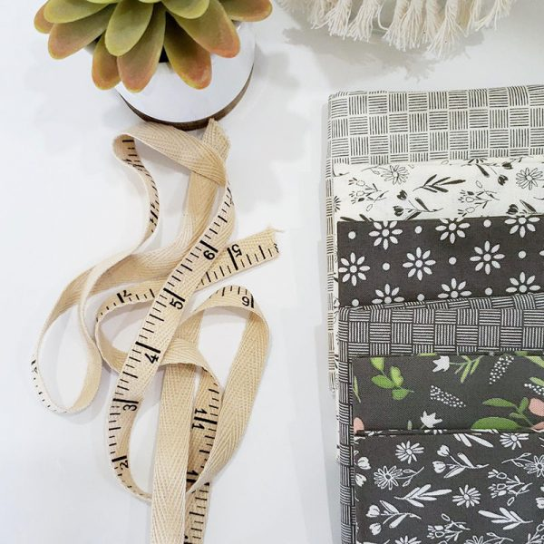 Saturday Seven 114 featured by Top US Quilting Blog, A Quilting Life: image of Summer Sweet fabrics in grey