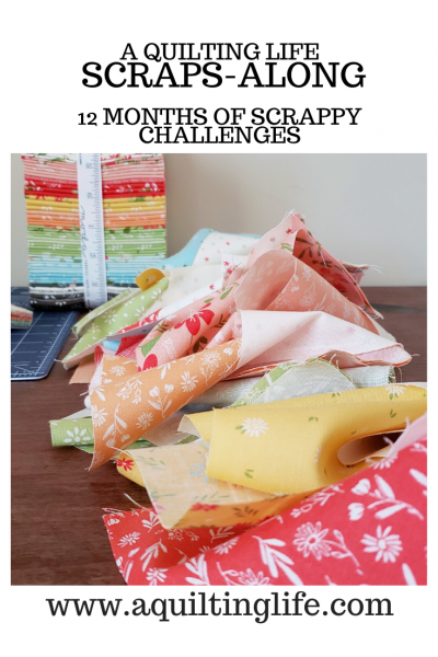 Scraps Along February featured by Top US Quilting Blog, A Quilting Life: image of Scraps Along Logo