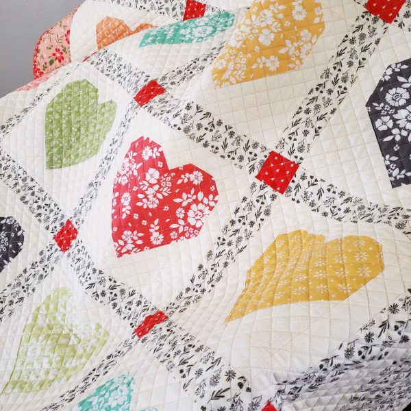 Lovely Heart Quilt featured by Top US Quilting Blog A Quilting Life: image of Lovely quilt