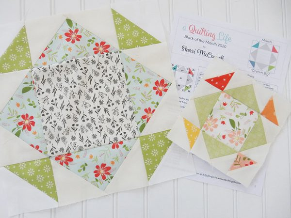 A Quilting Life Block of the Month 2020   March featured by Top US Quilting Blog, A Quilting Life: image of March blocks