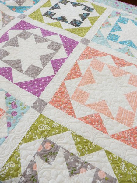 Carefree Fat Quarter Quilt Pattern Featured by Top US Quilting Blog, A Quilting Life: image of Carefree fat quarter quilt