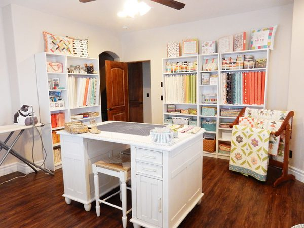 Sewing Room Tour featured by Top US Quiltiing Blog A Quilting Life: image of sewing room