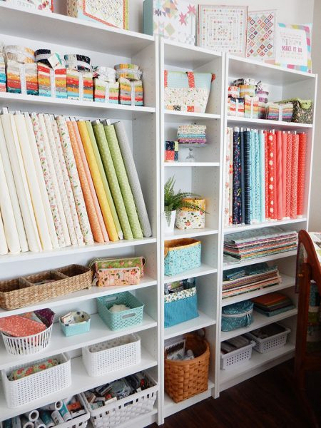 Saturday Seven 129 featured by Top US Quilting Blog, A Quilting Life: image of sewing room
