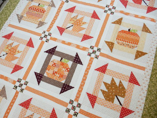 Fall Dash Quilt featured by Top US Quilting Blog, A Quilting Life