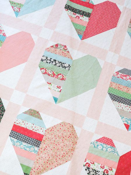 Sew Sampler May Box featured by Top US Quilting Blog, A Quilting Life: image of Heart quilt