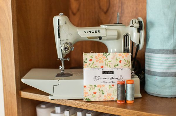 Saturday Seven 132 featured by Top US Quilting Blog, A Quilting Life: image of Singer Featherweight