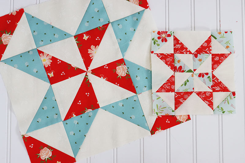12Scrappy 8 Point STARSQuilt Blocks Top Cotton Fabric Squares made in USA