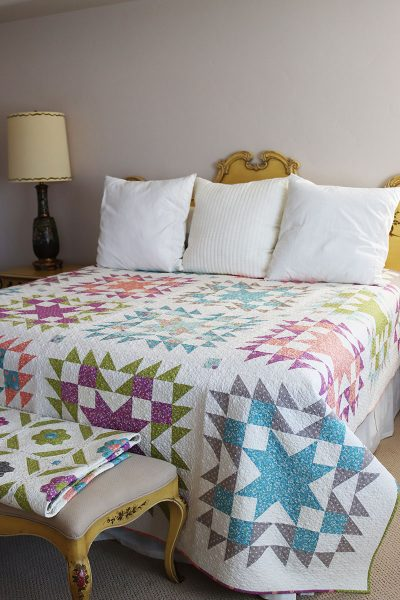 Timeless Star Quilt Pattern featured by Top US Quilting Blog, A Quilting Life
