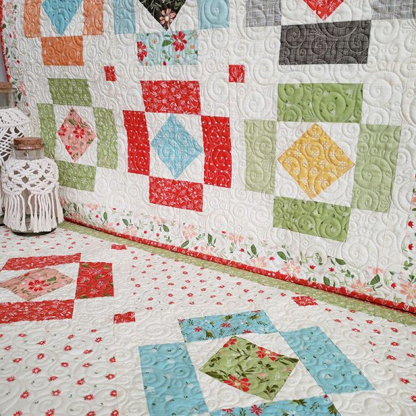 Simple Charm Pack Quilts & Projects featured by Top US Quilting Blog, A Quilting Life