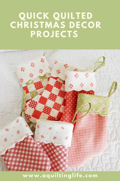 Quilted Christmas Decor Projects featured by Top US Quilting Blog, A Quilting Life