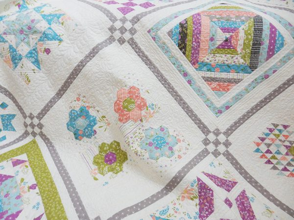 Labor of Love Sampler Block 7 featured by Top US Quilting Blog, A Quilting Life