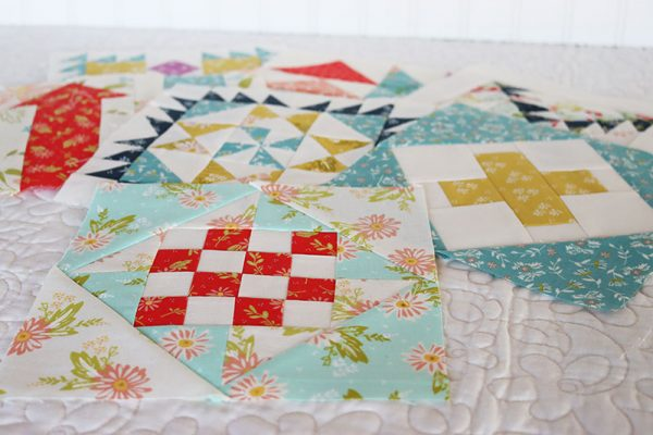 Moda Block Heads 3 Block 50 featured by Top US Quilting Blog, A Quilting Life