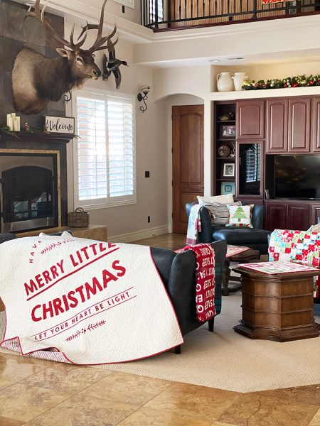 Quilting Life Christmas Home Tour 2020 featured by Top US Quilting Blog, A Quilting Life