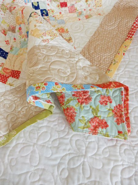 Scrappy Quilt Binding featured by Top US Quilting Blog, A Quilting Life