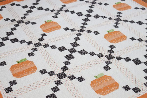 Pumpkin Patch Quilt Pattern featured by Top US Quilt Blog, A Quilting Life