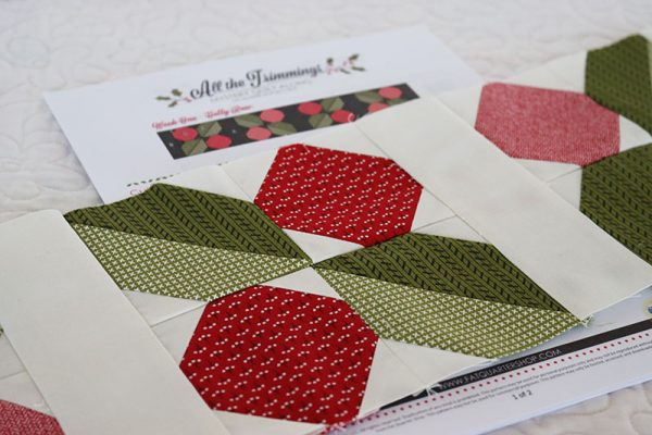 All the Trimmings Mystery Quilt Week 1 featured by Top US Quilting Blog, A Quilting Life